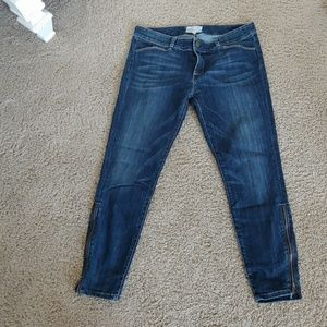 Current Elliott ankle skinny jeans with zippers